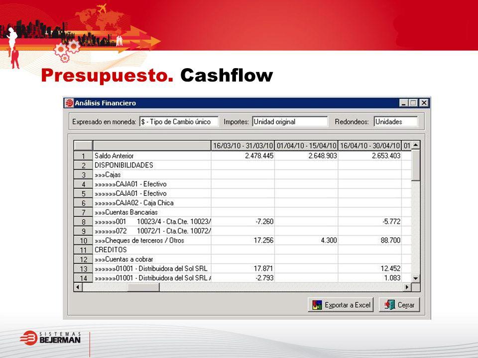 Presupuesto. Cashflow