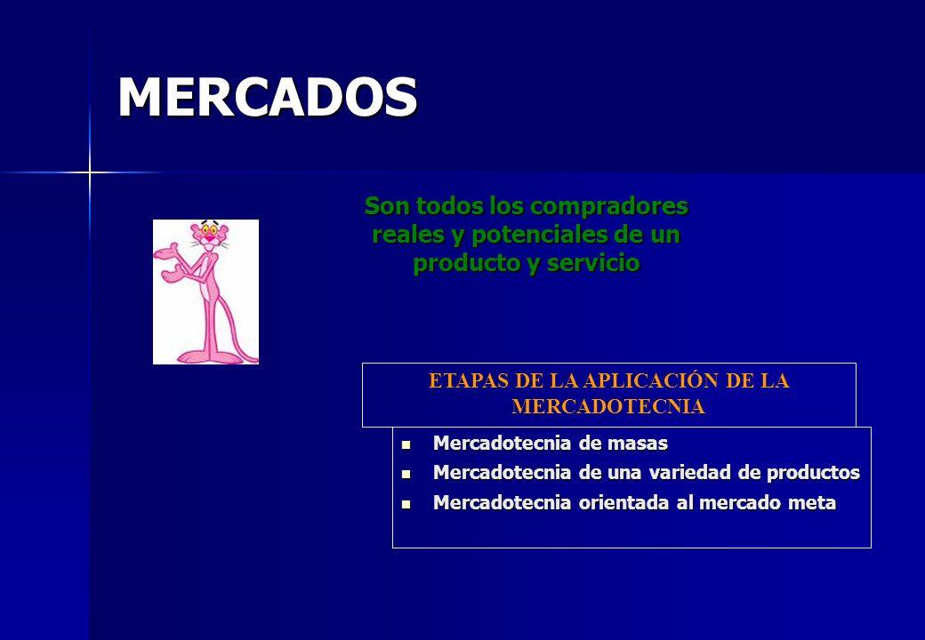 ETAPAS DE LA APLICACIÓN DE LA MERCADOTECNIA