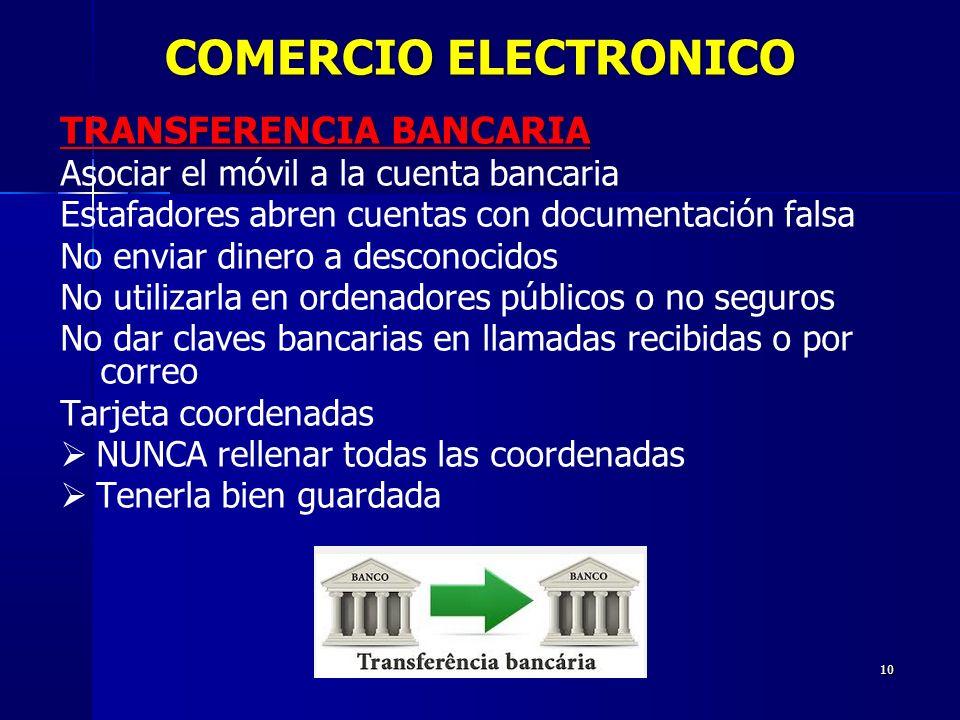 COMERCIO ELECTRONICO TRANSFERENCIA BANCARIA