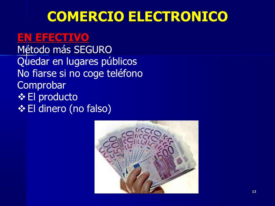 COMERCIO ELECTRONICO EN EFECTIVO Método más SEGURO