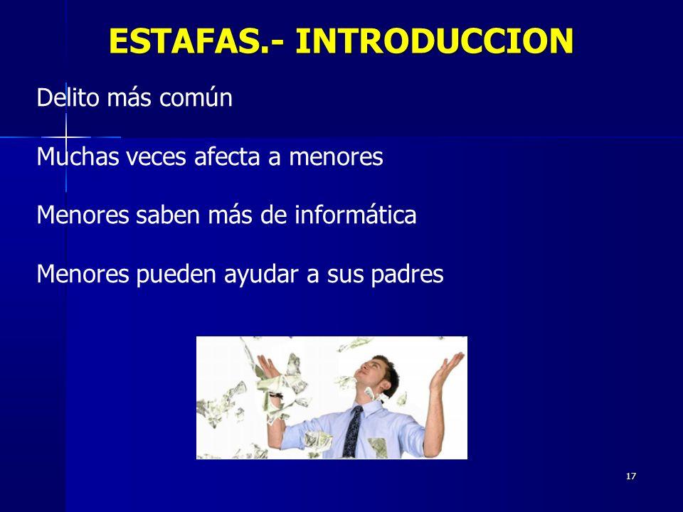 ESTAFAS.- INTRODUCCION