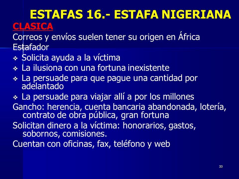 ESTAFAS 16.- ESTAFA NIGERIANA