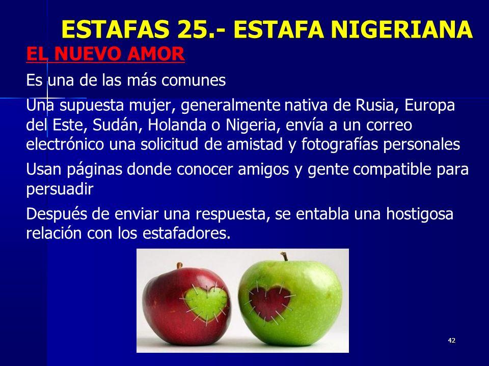 ESTAFAS 25.- ESTAFA NIGERIANA