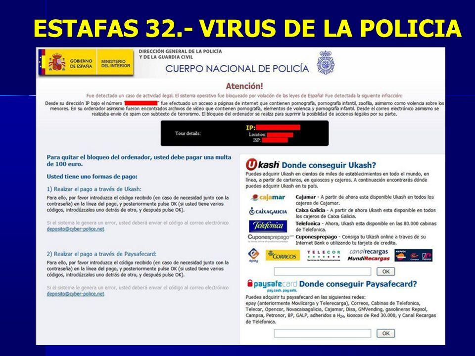 ESTAFAS 32.- VIRUS DE LA POLICIA