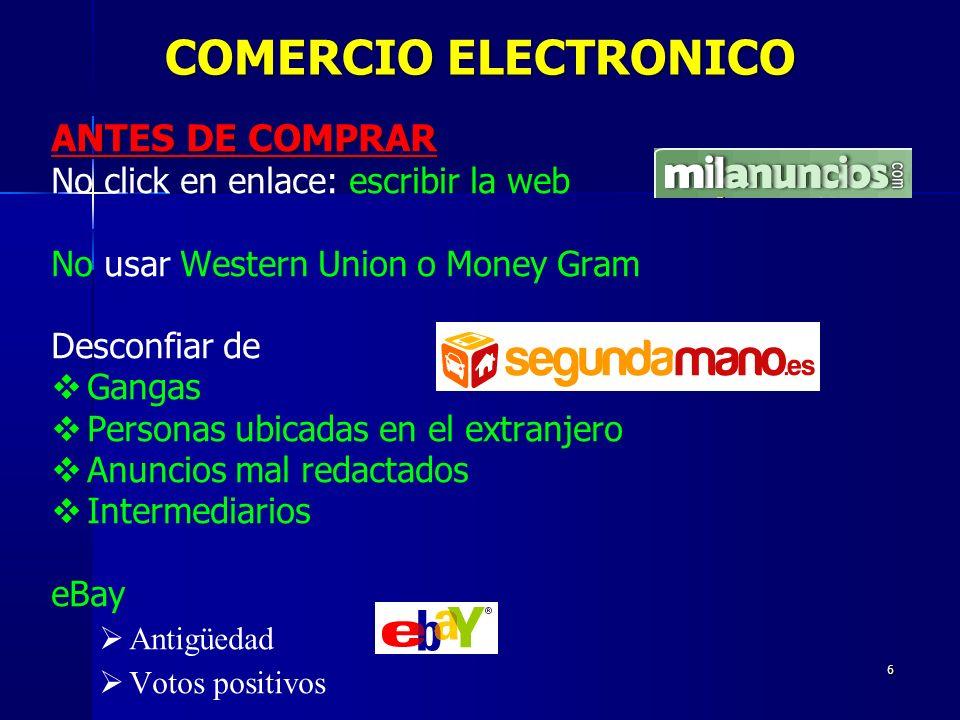 COMERCIO ELECTRONICO ANTES DE COMPRAR