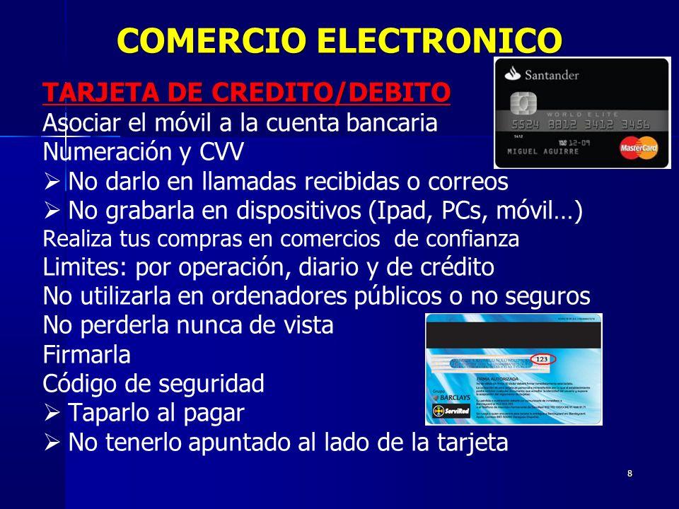 COMERCIO ELECTRONICO TARJETA DE CREDITO/DEBITO