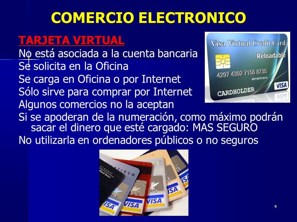 COMERCIO ELECTRONICO TARJETA VIRTUAL