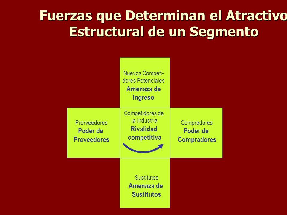 Fuerzas que Determinan el Atractivo Estructural de un Segmento