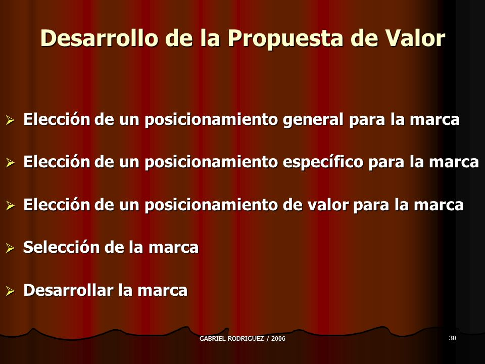Desarrollo de la Propuesta de Valor