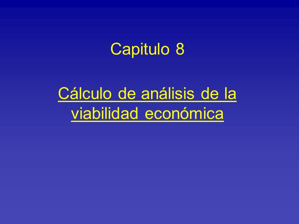 Cálculo de análisis de la viabilidad económica
