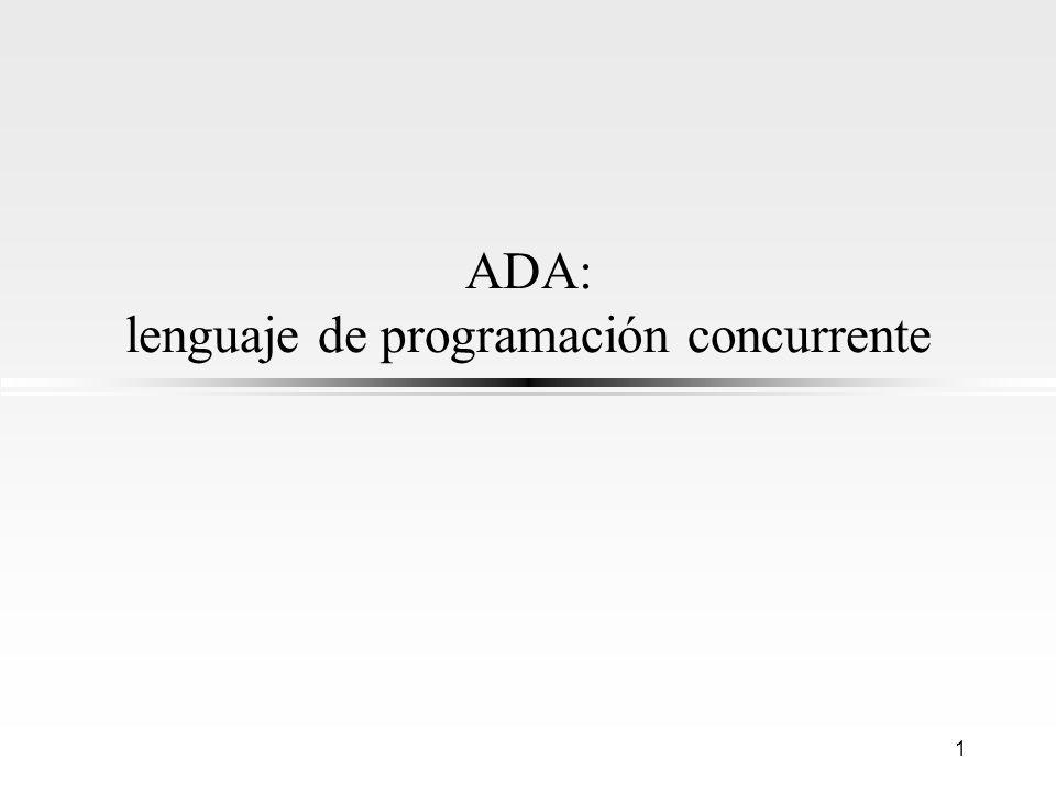 ADA: lenguaje de programación concurrente