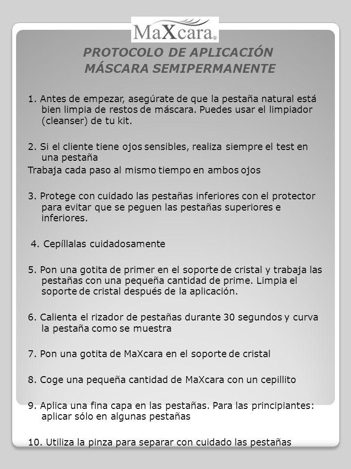 PROTOCOLO DE APLICACIÓN MÁSCARA SEMIPERMANENTE