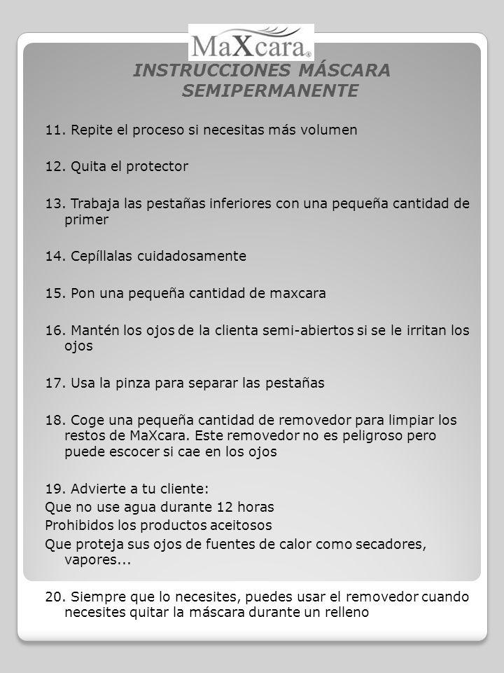 INSTRUCCIONES MÁSCARA SEMIPERMANENTE 11