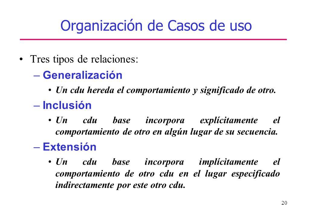 Organización de Casos de uso