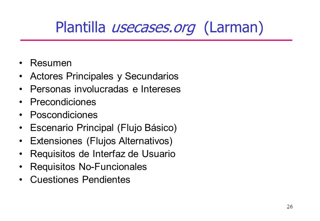 Plantilla usecases.org (Larman)