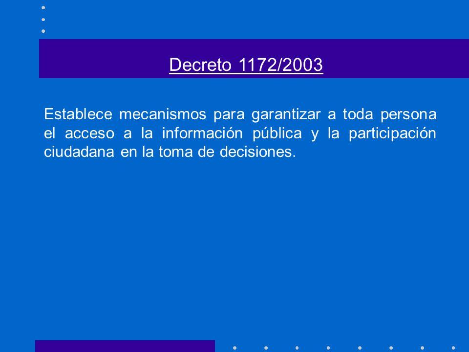 Decreto 1172/2003