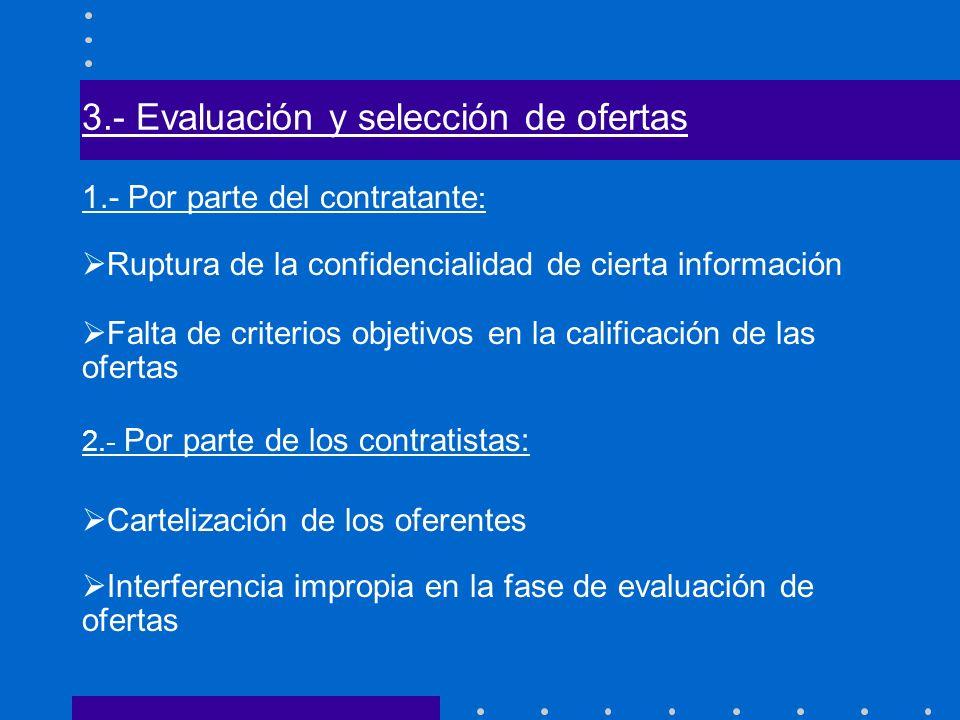 3.- Evaluación y selección de ofertas