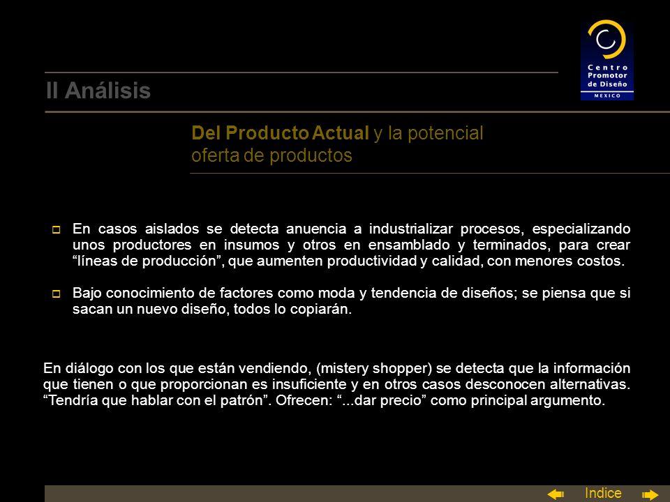 II Análisis Del Producto Actual y la potencial oferta de productos