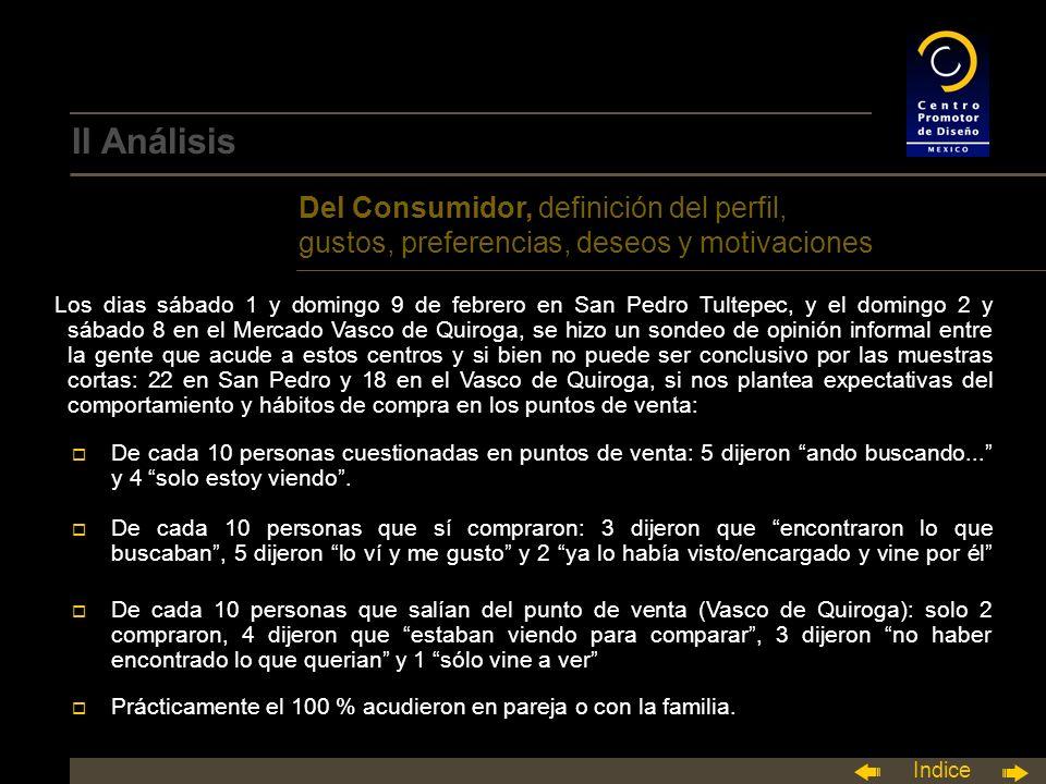 II Análisis Del Consumidor, definición del perfil, gustos, preferencias, deseos y motivaciones.