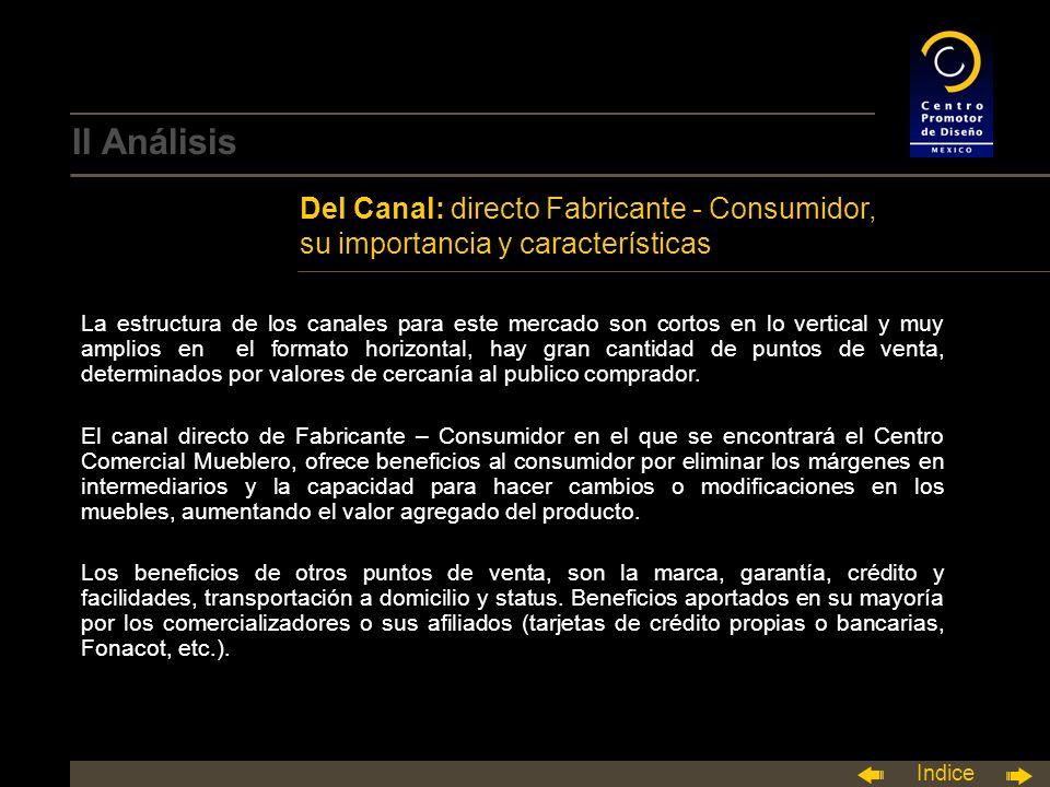 II Análisis Del Canal: directo Fabricante - Consumidor, su importancia y características.
