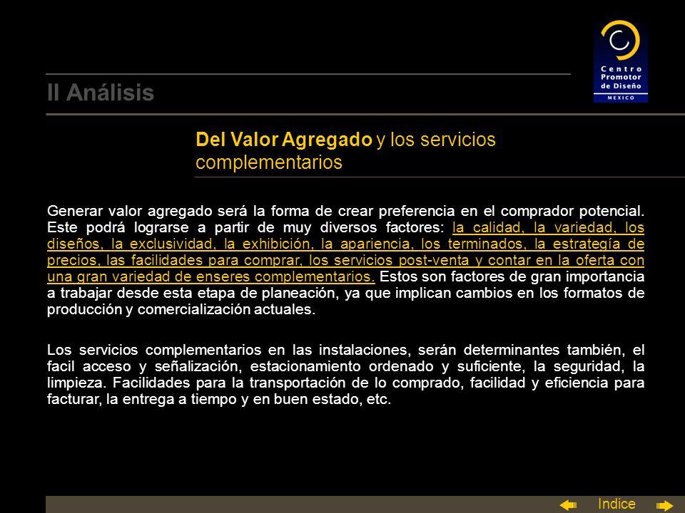 II Análisis Del Valor Agregado y los servicios complementarios