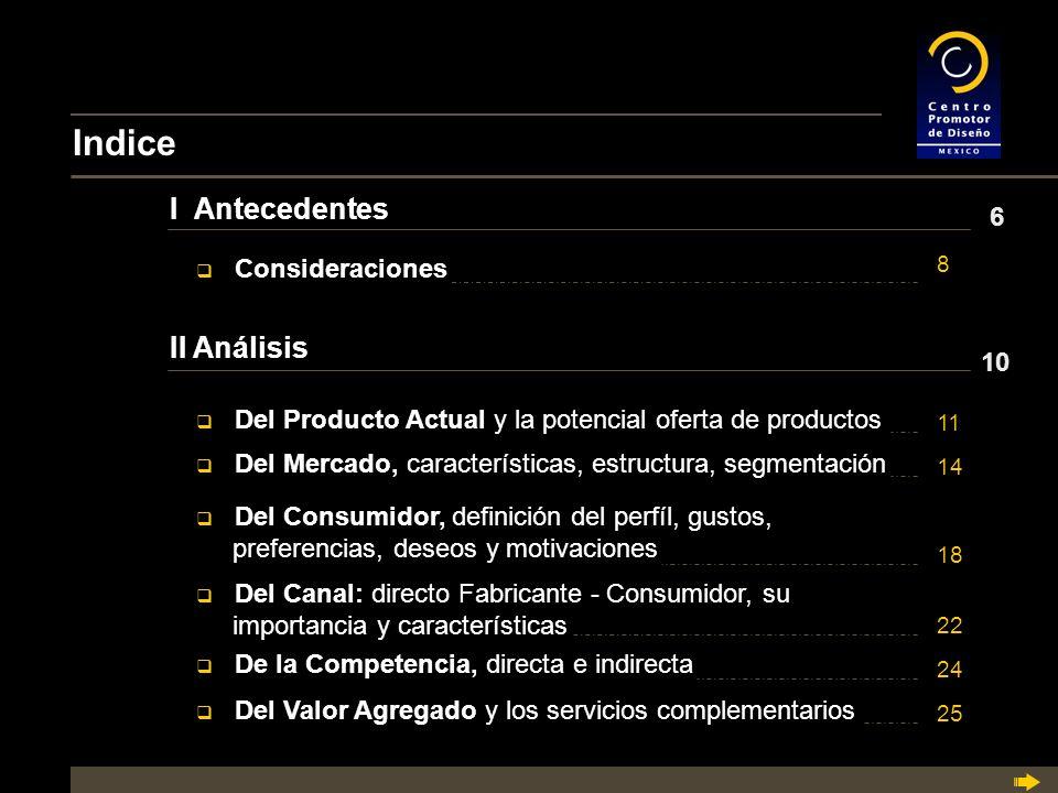Indice I Antecedentes II Análisis 6 Consideraciones 10