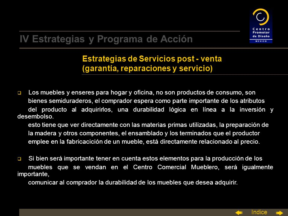 IV Estrategias y Programa de Acción