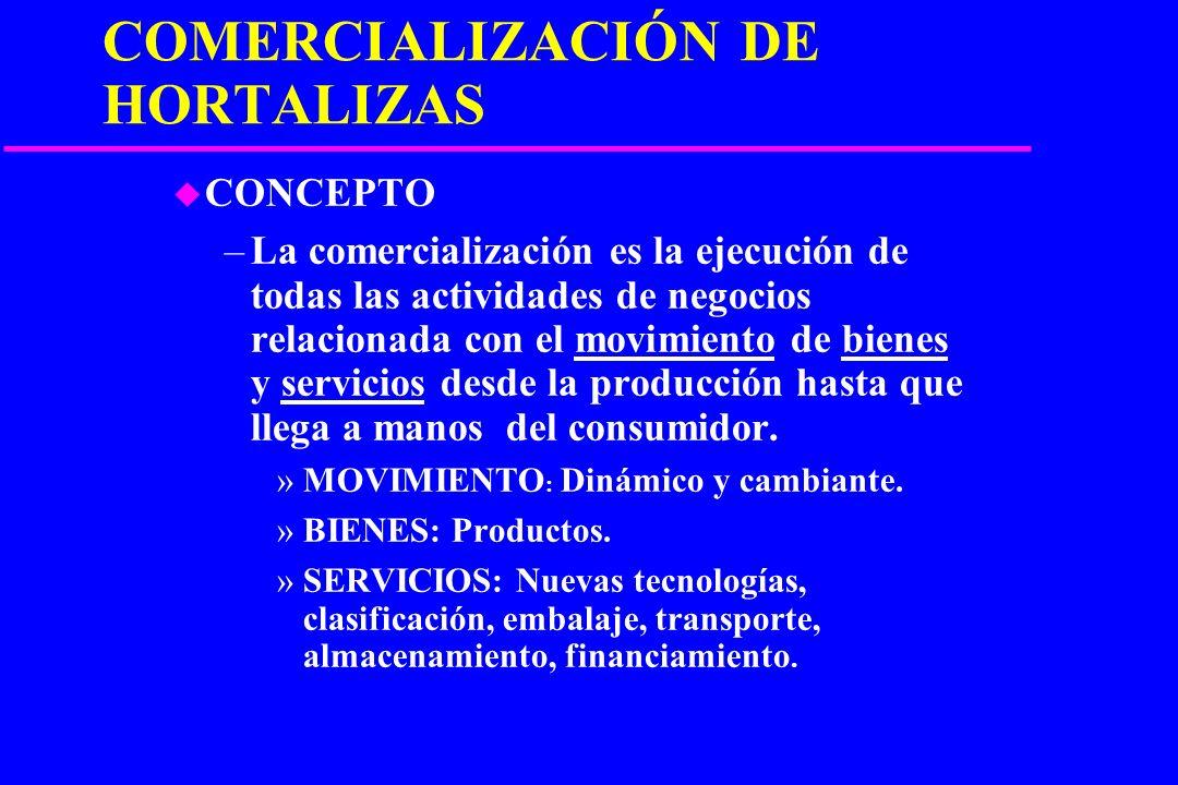 COMERCIALIZACIÓN DE HORTALIZAS