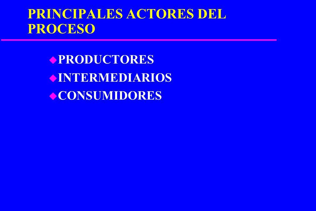 PRINCIPALES ACTORES DEL PROCESO