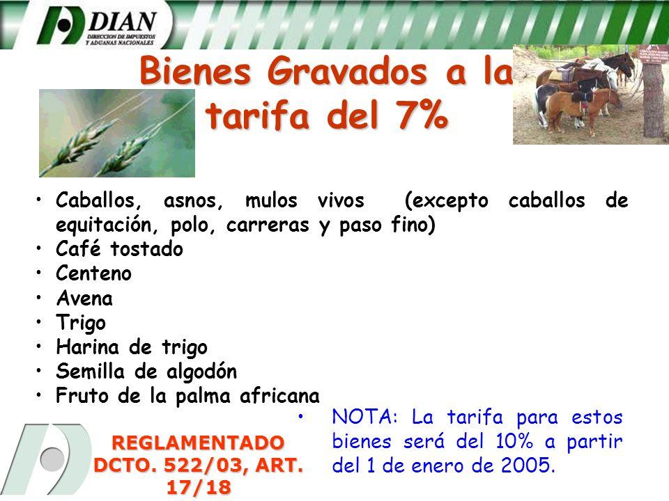 REGLAMENTADO DCTO. 522/03, ART. 17/18