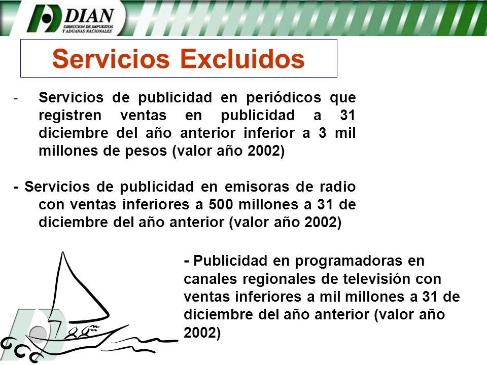 Servicios Excluidos