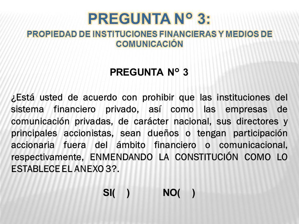 PROPIEDAD DE INSTITUCIONES FINANCIERAS Y MEDIOS DE COMUNICACIÓN