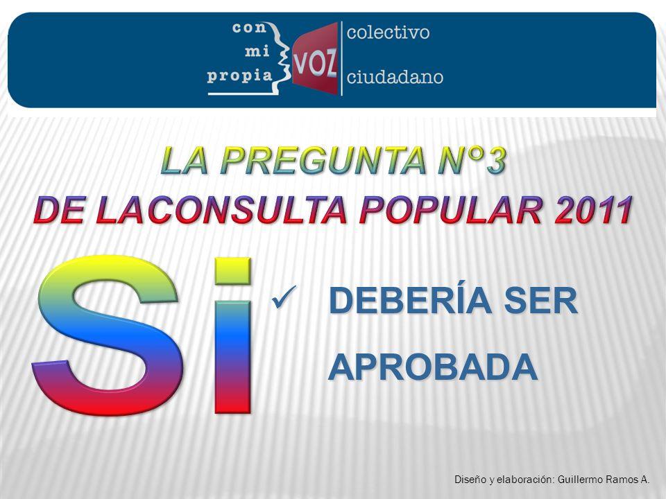 DEBERÍA SER APROBADA LA PREGUNTA N°3 DE LACONSULTA POPULAR 2011 Si .