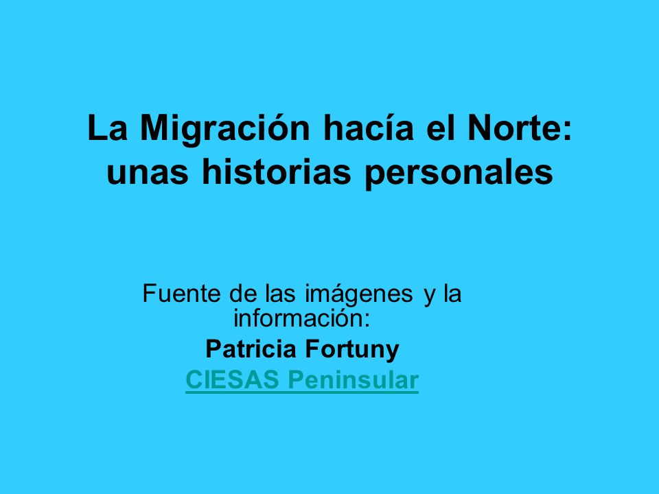 La Migración hacía el Norte: unas historias personales