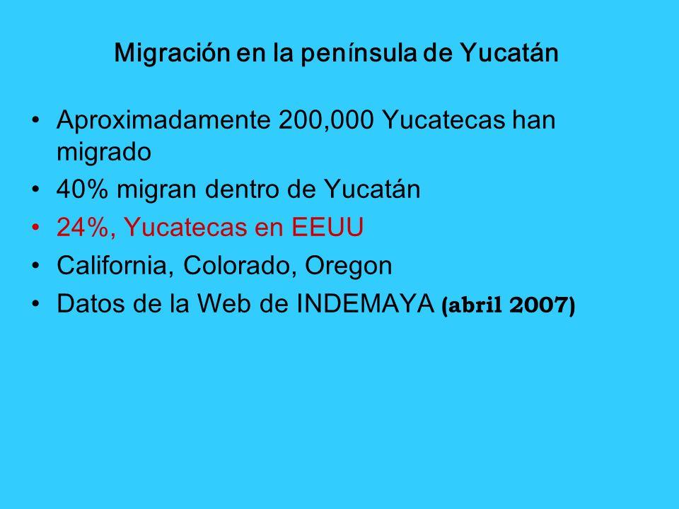 Migración en la península de Yucatán