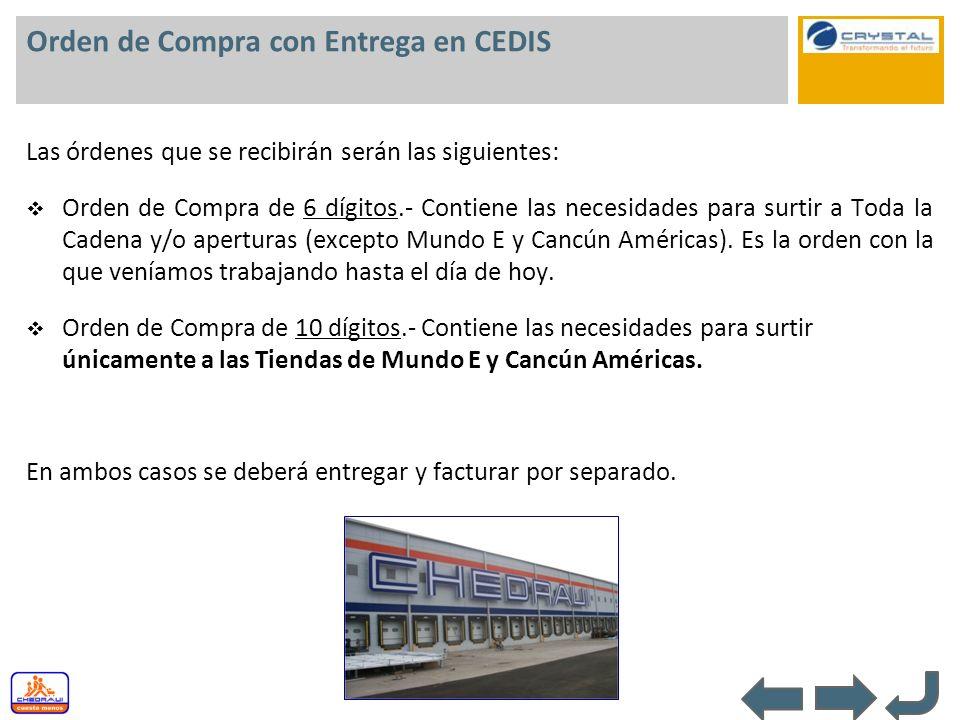 Orden de Compra con Entrega en CEDIS