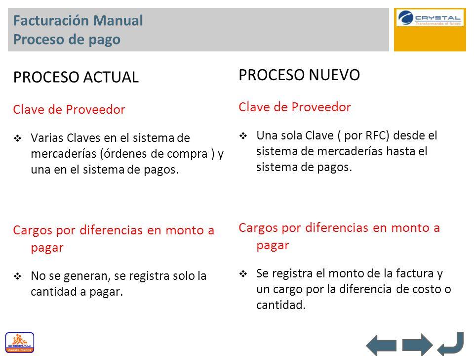 Facturación Manual Proceso de pago