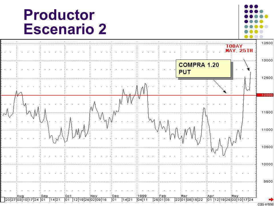 Productor Escenario 2 COMPRA 1.20 PUT
