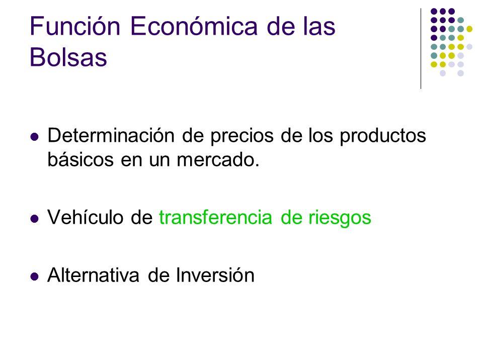 Función Económica de las Bolsas