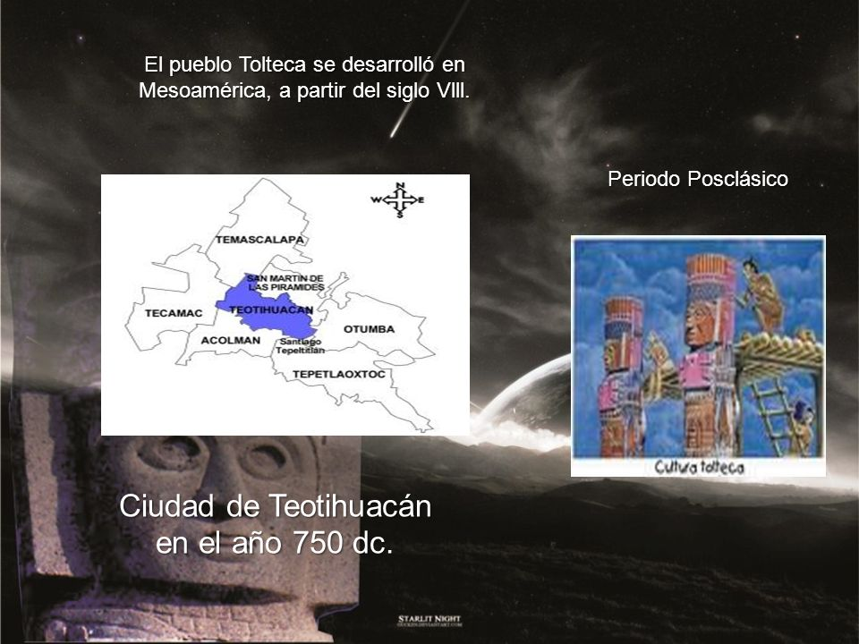 Ciudad de Teotihuacán en el año 750 dc.
