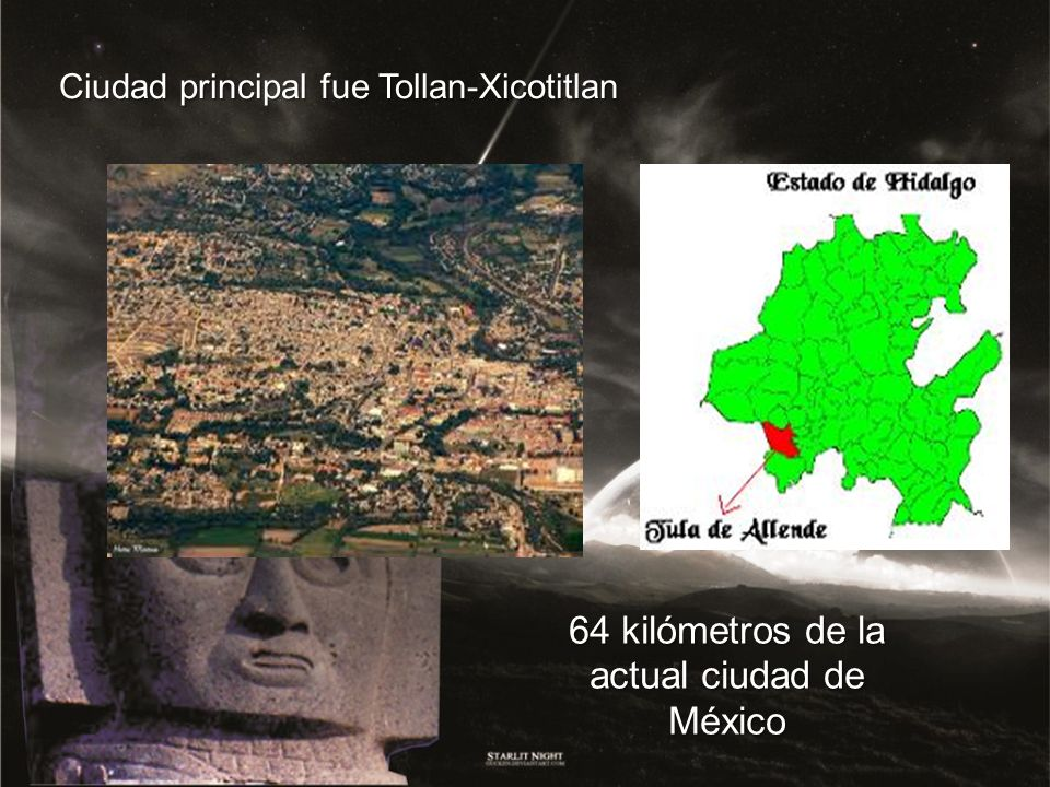 64 kilómetros de la actual ciudad de México