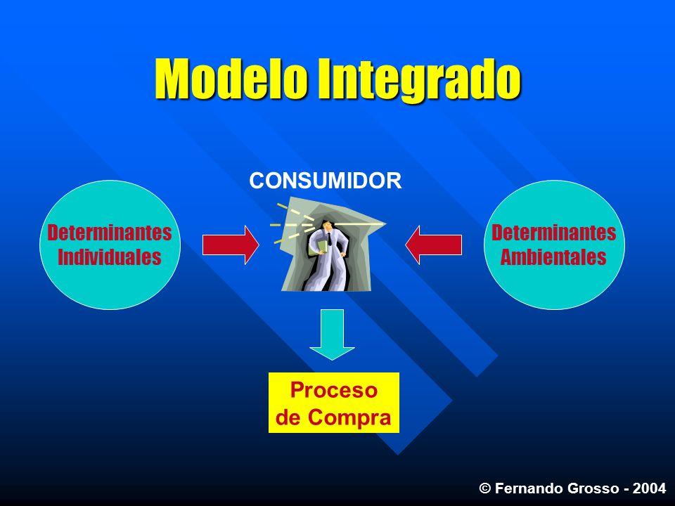 Modelo Integrado CONSUMIDOR Proceso de Compra Determinantes