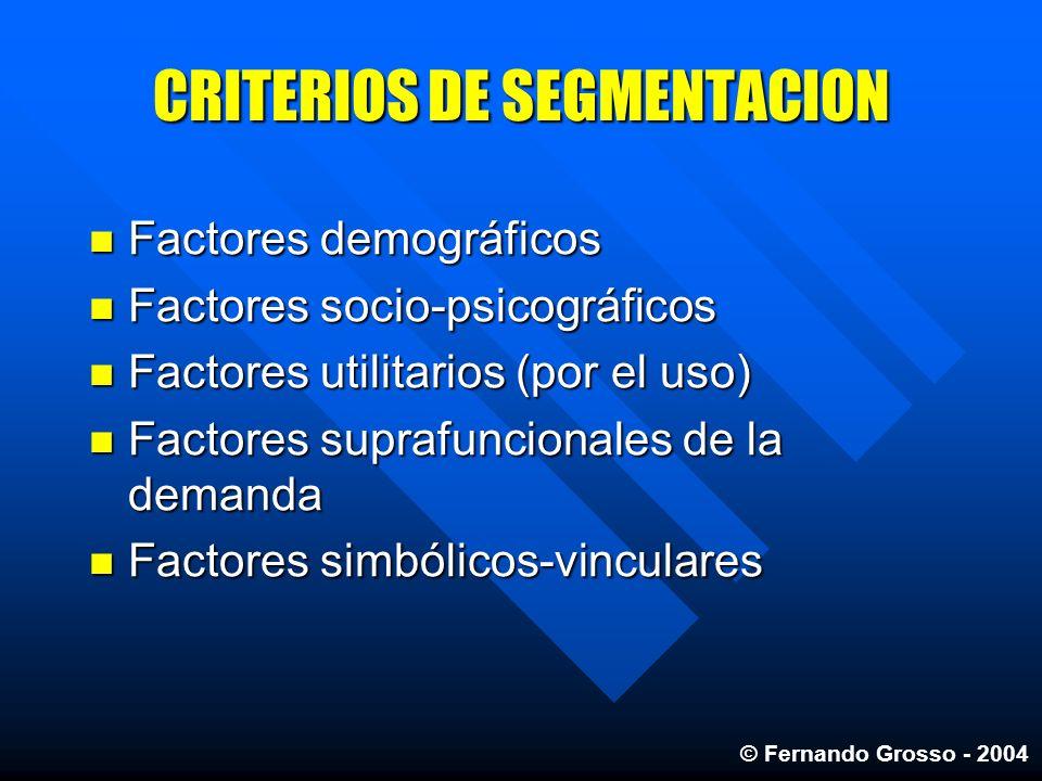 CRITERIOS DE SEGMENTACION