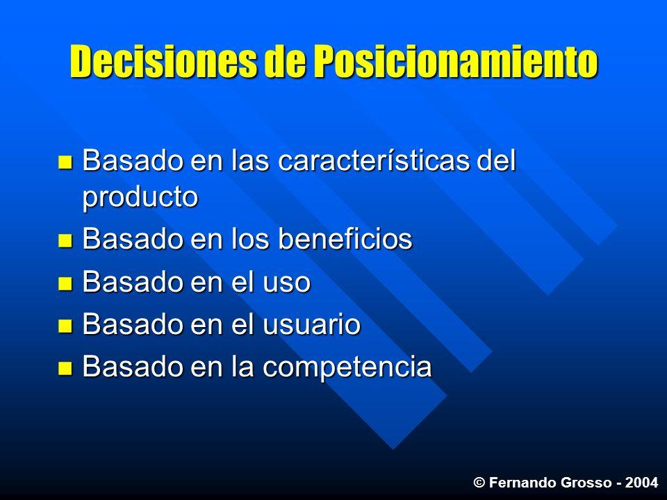 Decisiones de Posicionamiento