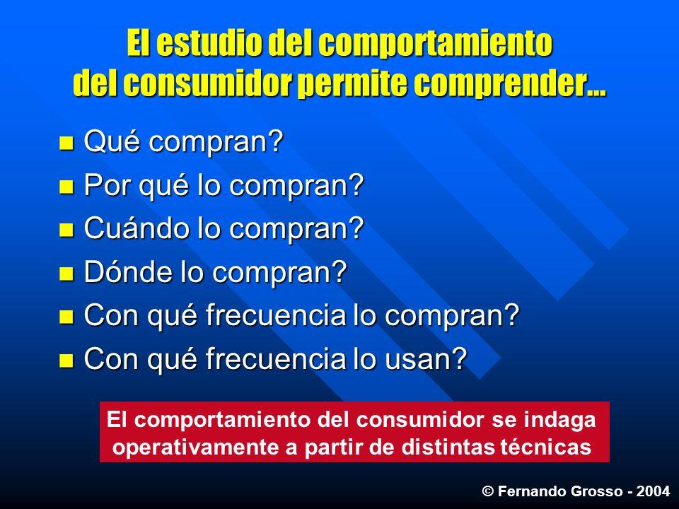 El estudio del comportamiento del consumidor permite comprender...