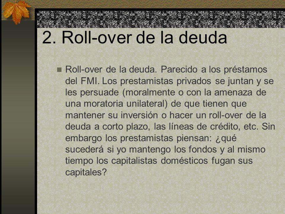 2. Roll-over de la deuda