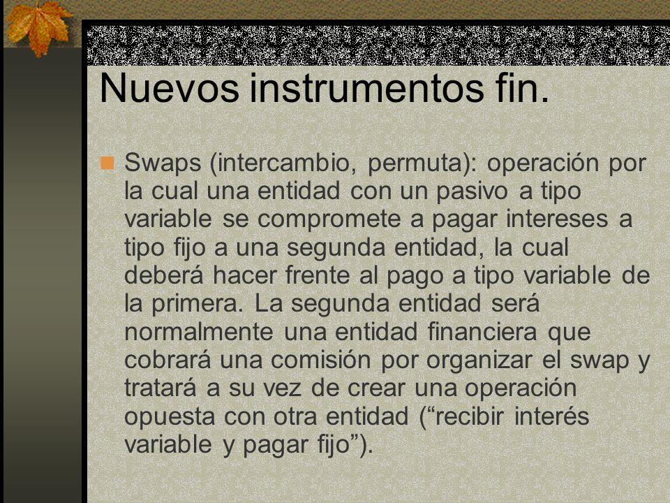 Nuevos instrumentos fin.