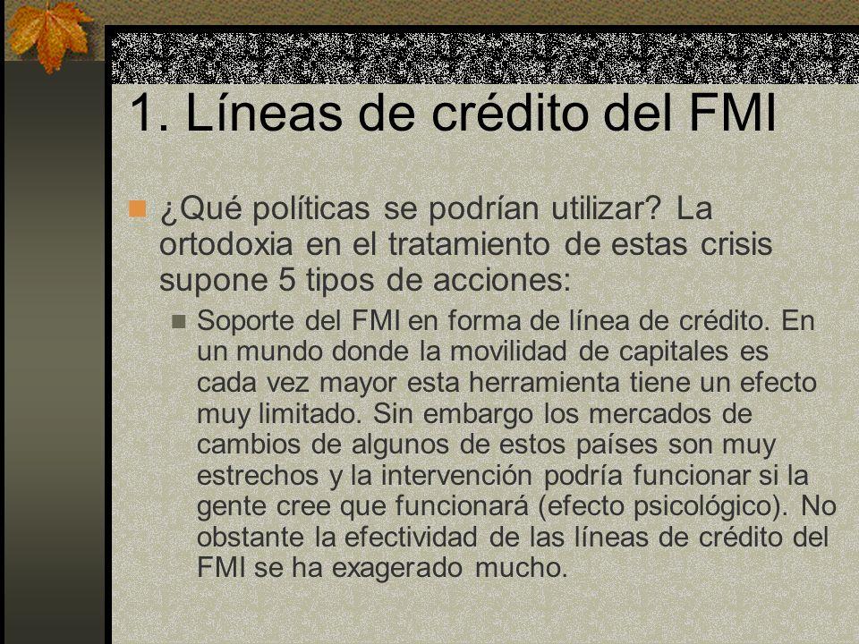 1. Líneas de crédito del FMI
