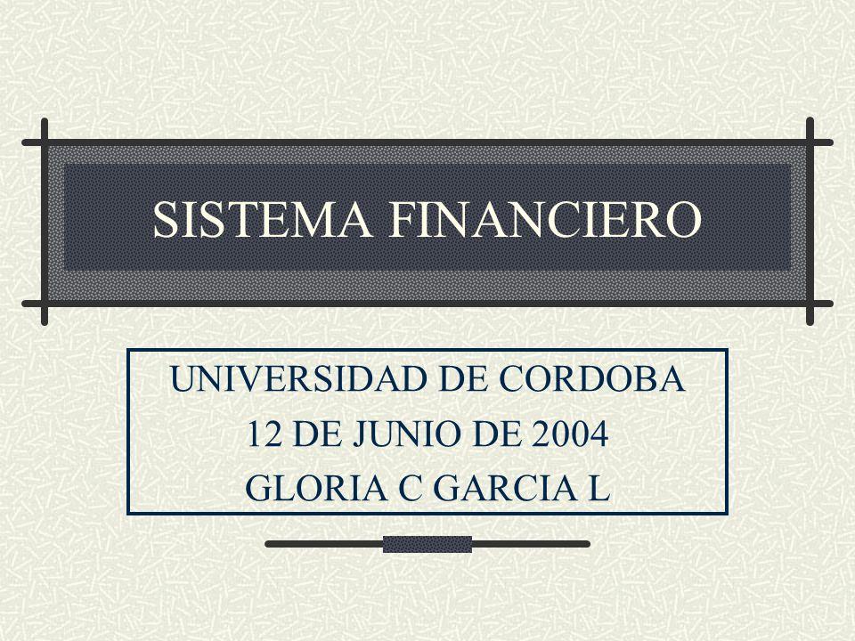 UNIVERSIDAD DE CORDOBA 12 DE JUNIO DE 2004 GLORIA C GARCIA L