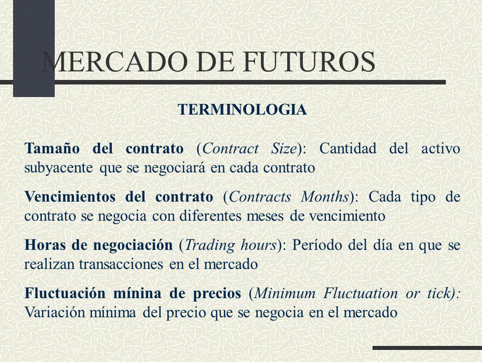 MERCADO DE FUTUROS TERMINOLOGIA